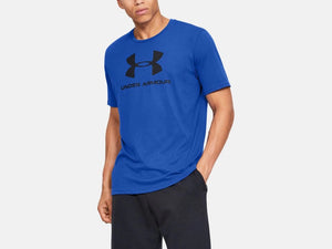 UNDER ARMOUR MENS SPORTSTYLE LOGO VERSA BLUE TSHIRT