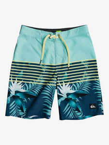 "QUIKSILVER YOUTH EVERYDAY LIGHTNING 18"" MAJOLICA BLUE BOARDSHORT"