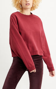 LEVI LADIES DIANA CREW BIKING RED TIGHT LOOPS SWEATER