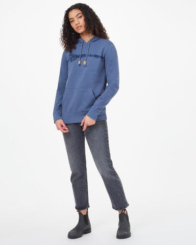 TEN TREE LADIES MOUNTAINSCAPE CLASSIC SPRUCE BLUE HEATHER HOODIE