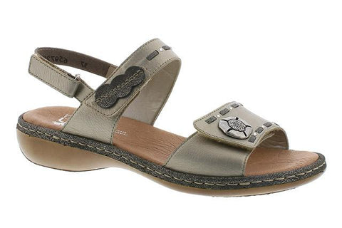 RIEKER LADIES 65972-90 METALLIC SANDAL