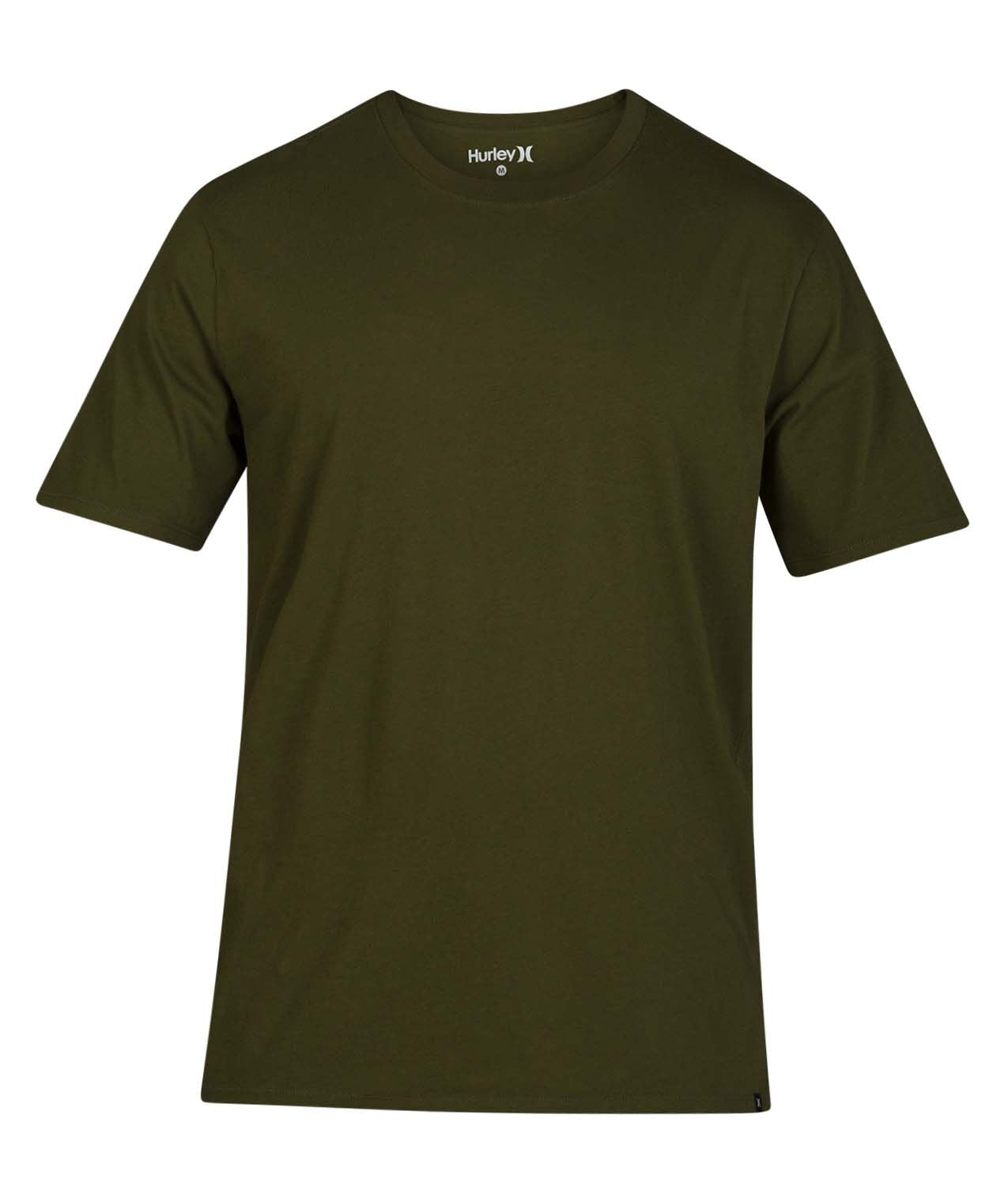 HURLEY MENS STAPLE GREEN TSHIRT