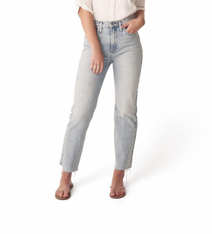 SILVER JEANS LADIES HIGHLY DESIRABLE HIGH RISE STRAIGHT LEG INDIGO JEANS