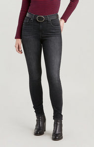 LEVI LADIES 721 HIGH RISE SKINNY STEADY ROCK JEANS