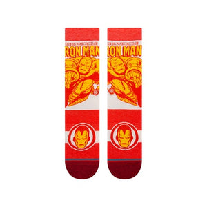 STANCE MENS MARVEL INFIKNIT IRON MAN MARQUEE RED SOCKS