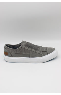 BLOWFISH LADIES MARLEY SLATE GREY COLOUR WASHED CANVAS SHOE
