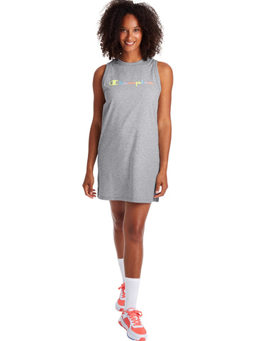 CHAMPION LADIES CAMPUS TANK OXFORD GREY DRESS