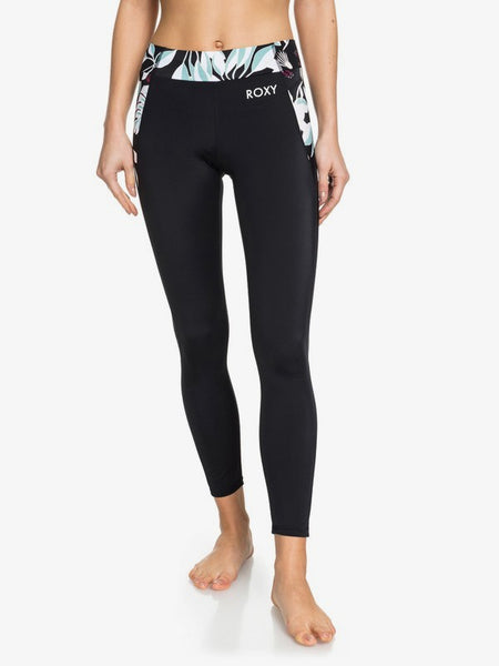 ROXY LADIES TAKE ME TO THE BEACH FITNESS BLACK LEGGING