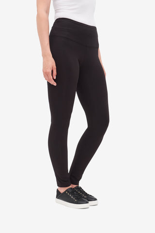 TRIBAL LADIES FLATTEN IT BLACK STRETCH JERSEY LEGGINGS