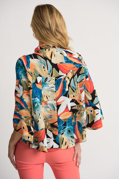 JOSEPH RIBKOFF LADIES MULTI LEAVES JACKET