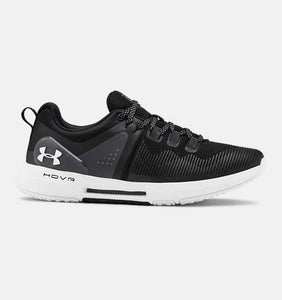 UNDER ARMOUR LADIES HOVR RISE BLACK/WHITE TRAINING SHOE