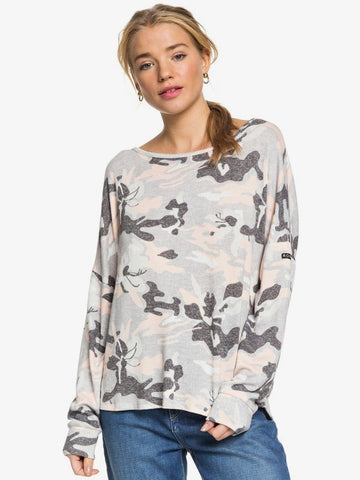 ROXY LADIES HOLIDAY EVERYDAY LS HERITAGE HEATHER DARWIN TSHIRT
