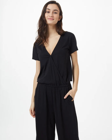 TEN TREE LADIES BLAKELY SS KNIT METEORITE BLACK JUMPSUIT