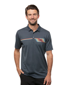 TRAVIS MATHEW MENS BYOB MOOD INDIGO/VINTAGE INDIGO GOLF SHIRT