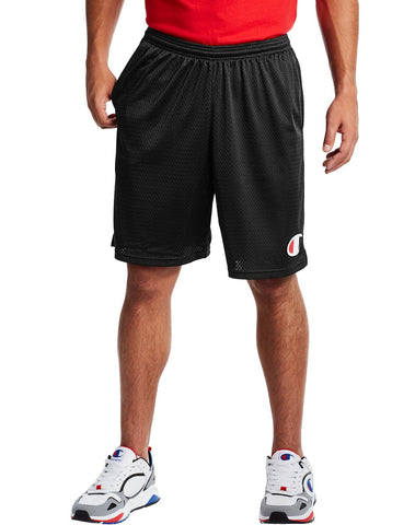 CHAMPION MENS 9IN CLASSIC GRAPHIC MESH BLACK SHORT