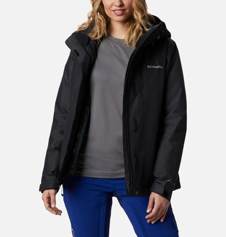 COLUMBIA LADIES WHIRLIBIRD IV INTERCHANGE BLACK WINTER JACKET