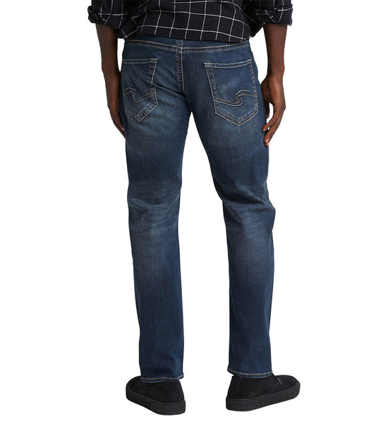 SILVER JEANS MENS EDDIE RELAXED FIT TAPERED LEG INDIGO JEAN