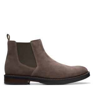 CLARK MENS PAULSON UP TAUPE SUEDE BOOT