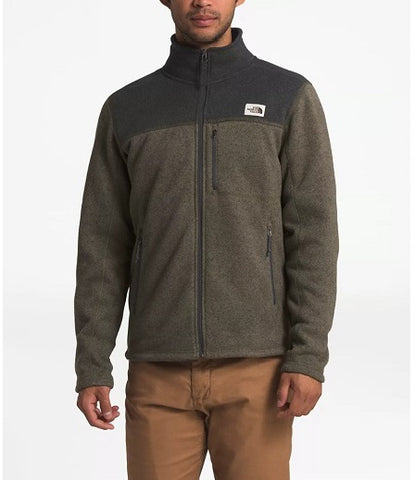 THE NORTH FACE MENS GORDON LYONS FULL ZIP TAUPE GREEN/DARK GREY HEATHER JACKET