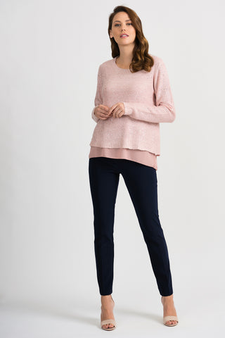 JOSEPH RIBKOFF LADIES BLUSH KNIT SWEATER