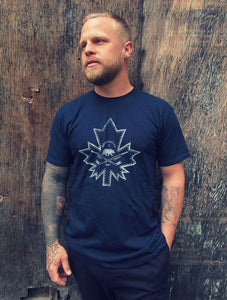 NORTHBOUND SUPPLY CO. MENS MAPLE LEAF NAVY TSHIRT