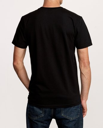 RVCA MENS BIG GLITCH BLACK TSHIRT