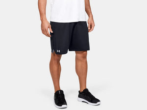 UNDER ARMOUR MENS LOCKER 9IN BLACK POCKET SHORT