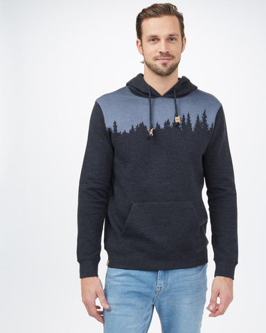 TEN TREE MENS JUNIPER CLASSIC METEORITE BLACK HEATHER HOODIE