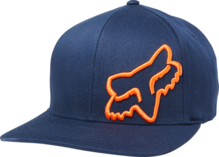 FOX MENS FLEX 45 FLEXFIT NAVY/ORANGE HAT