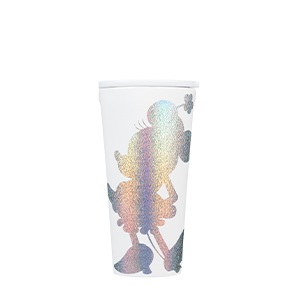 CORKCICLE DISNEY MINNIE 160Z WHITE SHILHOUETTE SPARKLE TUMBLER