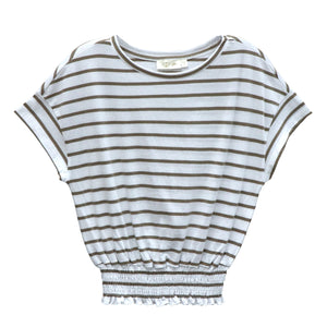 RD INTERNATIONAL LADIES STRIPED SS TOP