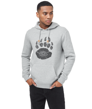 TEN TREE MENS BEAR CLAW HI RISE GREY HEATHER HOODIE