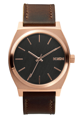 NIXON TIME TELLER ROSE GOLD/GUNMETAL/BROWN WATCH