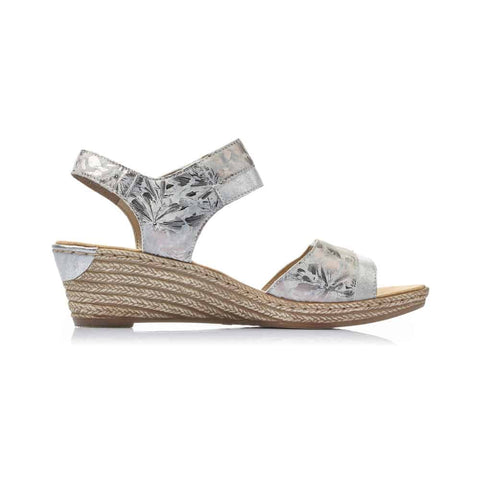 RIEKER LADIES 62470-91 METALLIC SANDAL