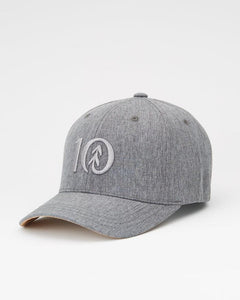 TEN TREE LOGO CORK BRIM THICKET DARK GREY HEATHER HAT