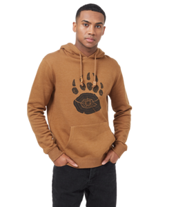 TEN TREE MENS BEAR CLAW RUBBER BROWN HOODIE