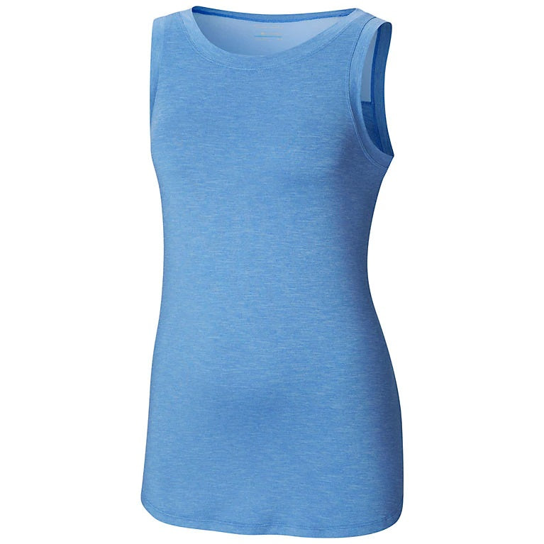 COLUMBIA LADIES PLACE TO PLACE ARTIC BLUE HEATHER TANK
