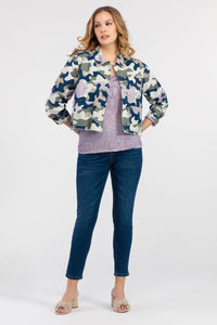 TRIBAL LADIES MAUVE PRINTED SHIRT JACKET