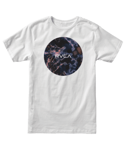 RVCA MENS MOTORS WHITE TSHIRT