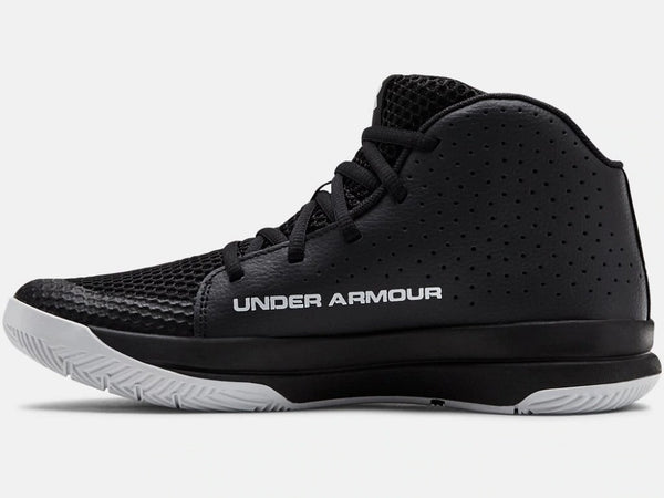 UNDER ARMOUR YOUTH GS JET 2019 BLACK BASKETBALL SHOE