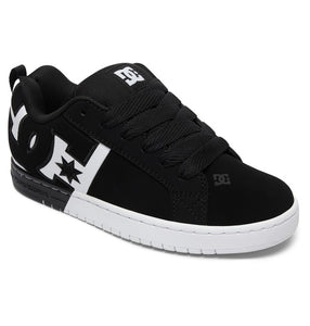 DC MENS COURT GRAFFIK SQ BLACK/WHITE/BLACK SHOE