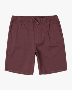 "RVCA MENS WEEKEND 19"" ELASTIC SHORT"