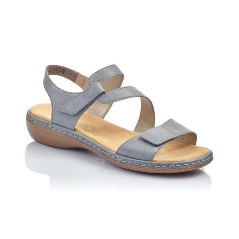 RIEKER LADIES 659C7-12 BLUE SANDAL