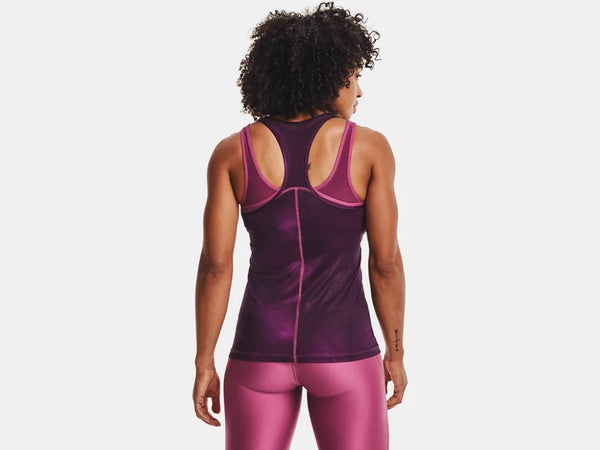 UNDER ARMOUR LADIES HG ARMOUR RACER POLARIS PURPLE TANK