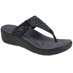EARTH ORIGINS LADIES WILLOW GLENDA BLACK SANDAL