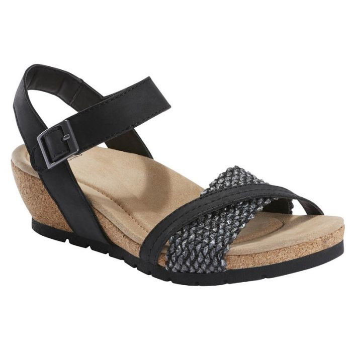 EARTH ORIGINS LADIES KENDRA KENNEDY BLACK SANDAL