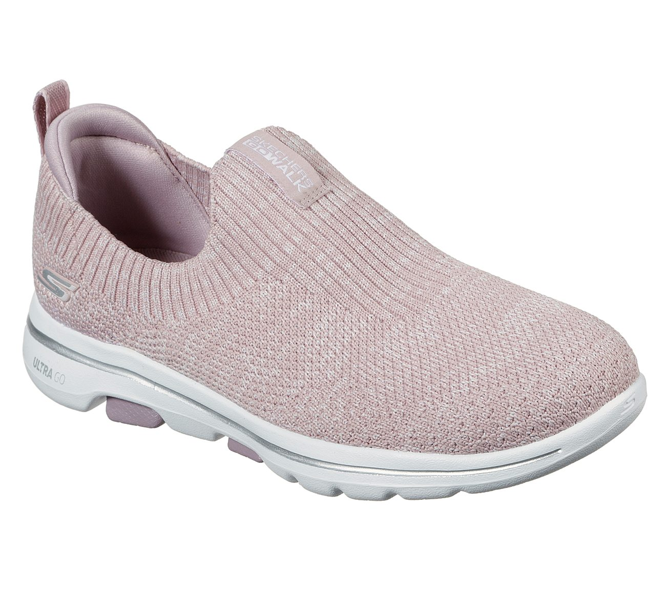 SKECHERS LADIES GO WALK 5 TRENDY MAUVE SHOE