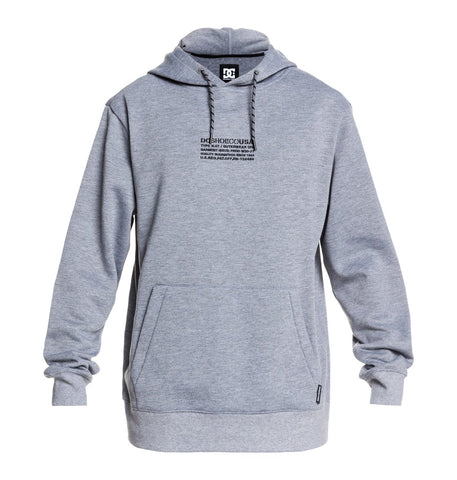 DC MENS VERSE TECHNICAL FLEECE FROST GREY HOODIE