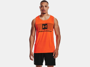 UNDER ARMOUR MENS TECH GRAPHIC BLAZE ORANGE TANK
