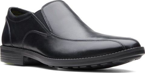 CLARK MENS BRIKETT STEP BLACK LEATHER DRESS SHOE